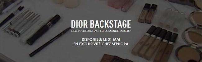 Recevez gratuitement votre échantillon de Face & Body Dior Backstage