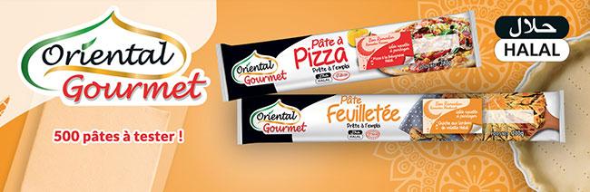 testez une pâte feuilletée hallal ou à pizza d'Oriental Gourmet