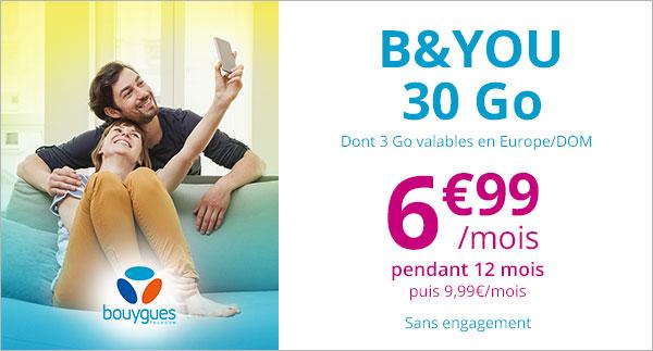 Vente privée B&You de Bouygues Telecom