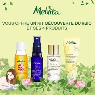 Melvita : 4 soins offerts + 3 échantillons + soldes jusqu'à -50%