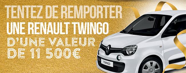gagnez la Renault Twingo Life au jeu des supermarchés Match