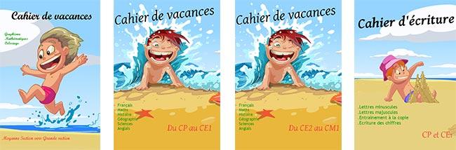 Cahiers de vacances Editions Rosace gratuits