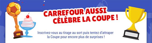 Comment jouer au jeu défilé des coupes de Carrefour ?