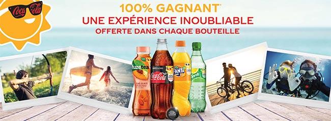 Coca-Cola Summer 100% gagnant : expériences inoubliables