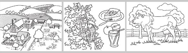 Coloriages gratuits : cahier On the farm