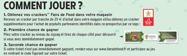 Comment jouer en magasin et sur www.fansdefood.fr