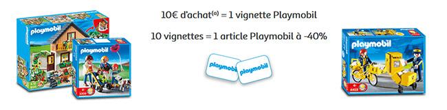 Cumulez 10 vignettes Playmobil sur le collector Auchan