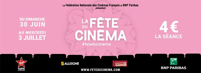 Tarif réduit de 4€ la place pendant la Fête du Cinéma 2019