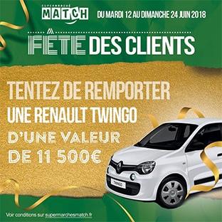 Jeu Match Fête des clients : voiture à gagner