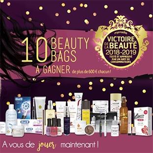 10 Beauty Bags (avec + de 600€ de produits de beauté) à gagner