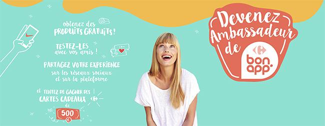 Testez gratuitement les produits Bon App' de Carrefour