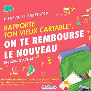 Reprise Cartable Carrefour = nouveau sac remboursé en bon d'achat