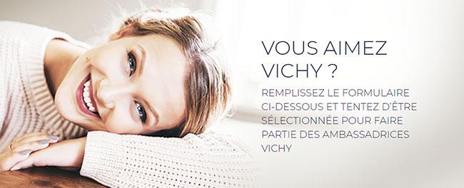 Test gratuit du produits Vichy
