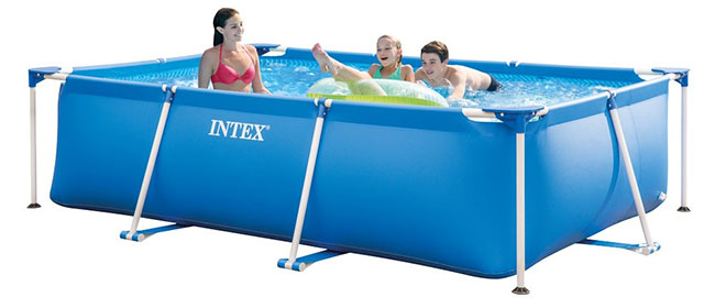 Soldes Gifi : Piscine tubulaire Intex Metal Frame Junior