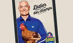 Affiche publicier Didier des champs gratuite, offerte par Loué