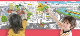 Coloriage géant panoramique gratuit à imprimer avec Bayard