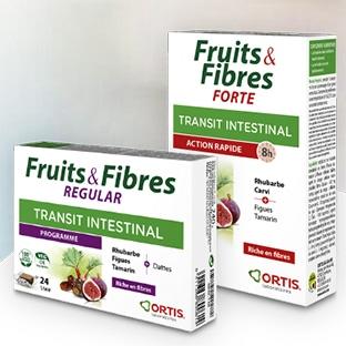 Échantillons gratuits de compléments Fruits & Fibres d'Ortis