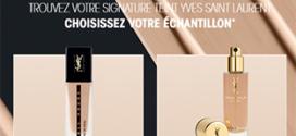 Échantillon de fond de teint ou encre de peau Yves Saint Laurent