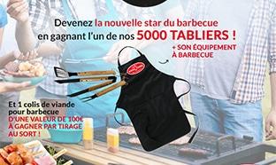 Jeu Novoviande : 5'000 tabliers et 1 colis de viande à gagner