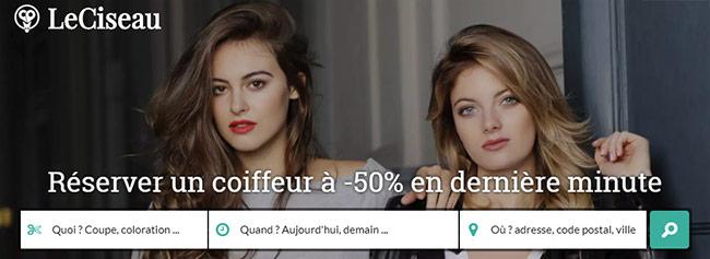 50% de remise dans un salon de coiffure avec LeCiseau.fr