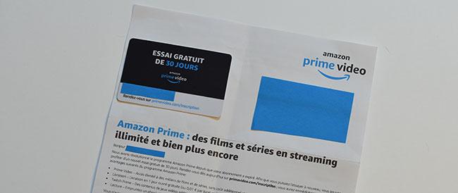 Essayez à nouveau Amazon Prime pendant 30 jours