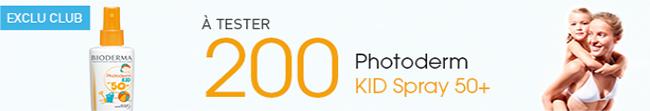 Testez gratuitement le spray Photoderm Kid de Bioderma