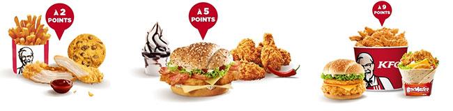 Les récompenses fidélité de KFC