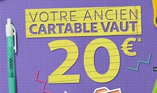 Auchan reprise Cartable 2018 : 20€ offerts en bons d'achat