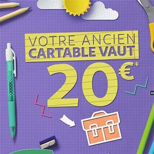 Auchan reprise Cartable 2020 : 20€ offerts en bons