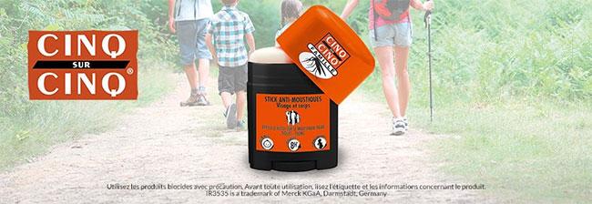 testez gratuitement le stick anti-moustique Cinq sur Cinq