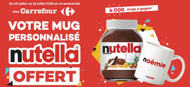 Mon Mug Nutella personnalisé offert