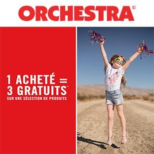 Promo Orchestra : 1 article acheté = 3 gratuits