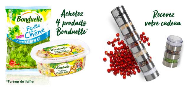 Cadeau Moulin à baies offert avec Bonduelle