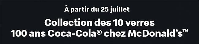 Collection verres Coca-Cola collector McDonald's 2019