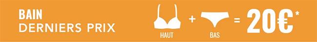 Maillots de bain Etam pas chers : Ensemble Haut + Bas = 20€