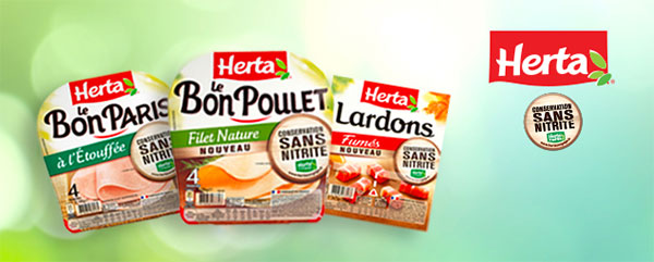 paquets Conservation Sans Nitrite et sans Allergène Herta offerts