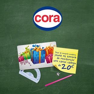 Jeu Cora : Cartes cadeaux à gagner