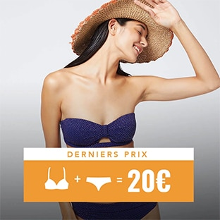 Derniers prix Etam : Maillots de bain 2 pièces à 20€