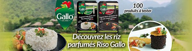 testez gratuitement le riz Riso Gallo avec CVous