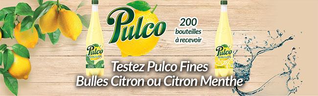 testez gratuitement une bouteille de Pulco Fines Bulle
