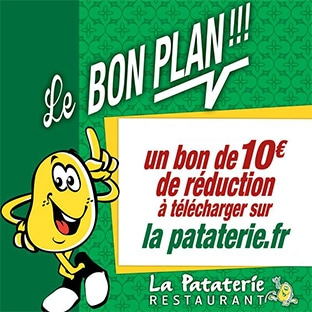 Bon de réduction La Pataterie de 10€