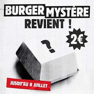Burger King : Gros burger mystère à 2€ seulement sur l'appli