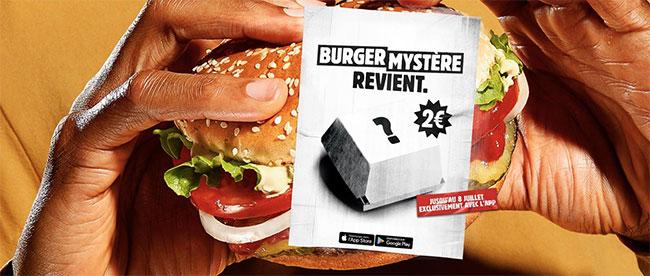 Mystère Burger King 2019