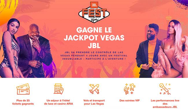 Séjour JBL Fest à Las Vegas à gagner