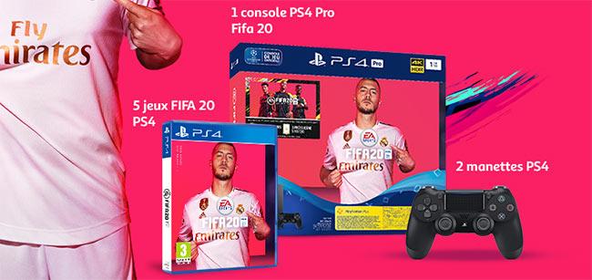 Les cadeaux à gagner au jeu FIFA d'Auchan