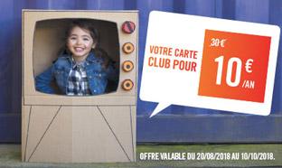 Carte Club Orchestra en promo à 10€ = 50% de réduction