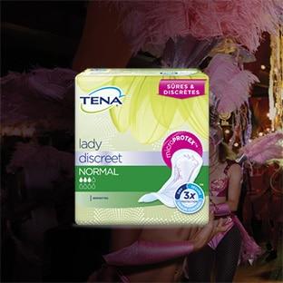 Echantillons gratuits de serviettes TENA Lady Discreet