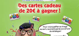 Jeu Cora Incorayable : 50 cartes cadeaux de 20€ à gagner