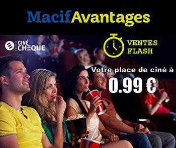 Macif : réduction sur vos places de ciné CinéChèque