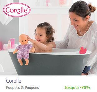 Poupons, poupées, doudous et accessoires Corolle en promo